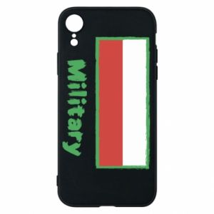 Etui na iPhone XR Military i flaga Polski