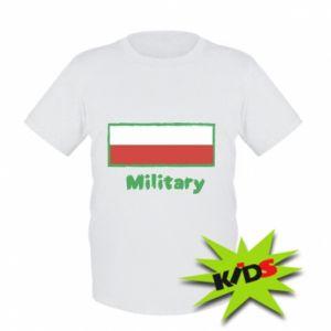 Dziecięcy T-shirt Military i flaga Polski
