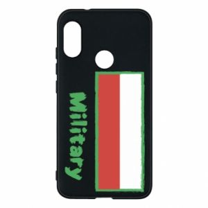Mi A2 Lite Case Military and the flag of Poland