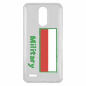 Lg K10 2017 Case Military and the flag of Poland