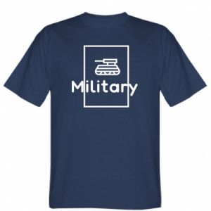 T-shirt Military with a tank