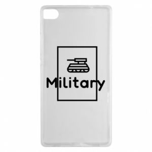 Huawei P8 Case Military with a tank