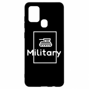 Samsung A21s Case Military with a tank