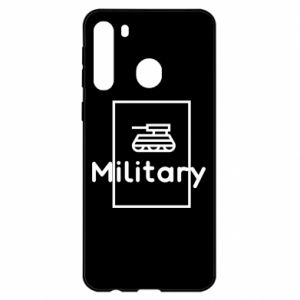 Samsung A21 Case Military with a tank