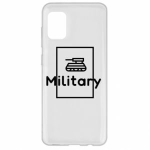 Samsung A31 Case Military with a tank