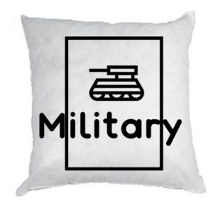Pillow Military with a tank