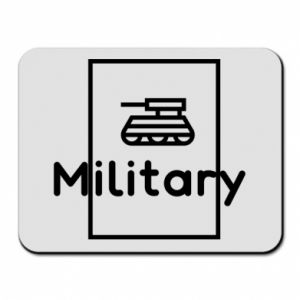 Mouse pad Military with a tank