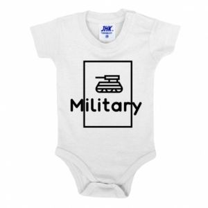 Baby bodysuit Military with a tank