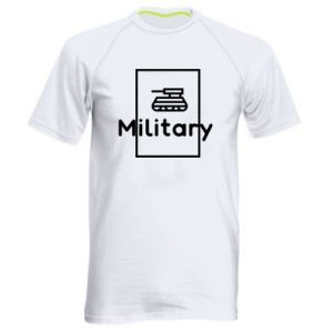 Men's sports t-shirt Military with a tank