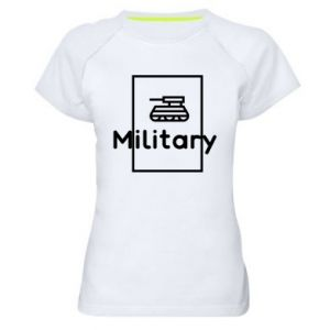 Women's sports t-shirt Military with a tank