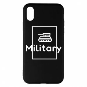 iPhone X/Xs Case Military with a tank
