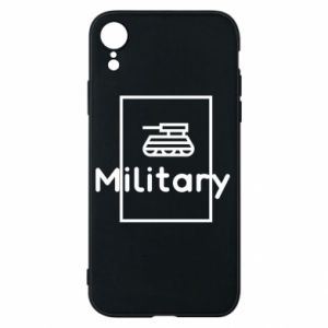 iPhone XR Case Military with a tank