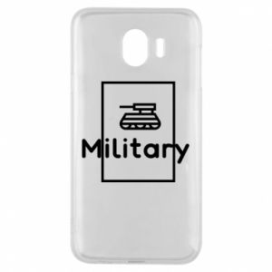 Samsung J4 Case Military with a tank