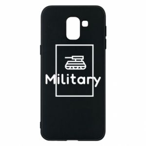 Samsung J6 Case Military with a tank