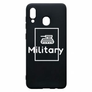 Samsung A20 Case Military with a tank