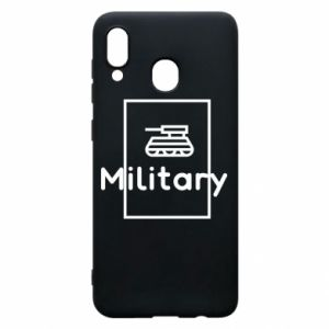 Samsung A30 Case Military with a tank
