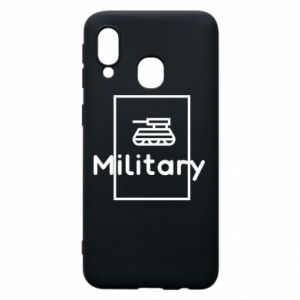 Samsung A40 Case Military with a tank