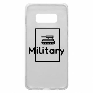 Samsung S10e Case Military with a tank