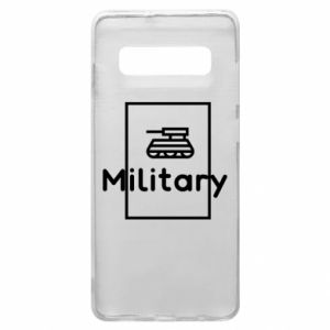 Samsung S10+ Case Military with a tank