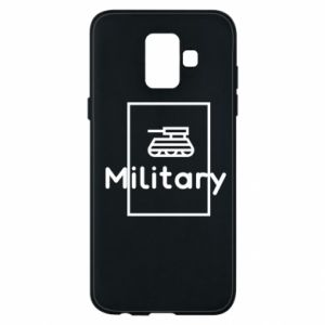Samsung A6 2018 Case Military with a tank