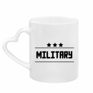 Mug with heart shaped handle Military with stars