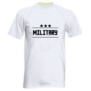 Men's sports t-shirt Military with stars