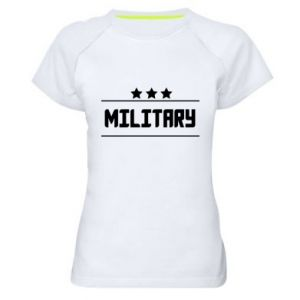Women's sports t-shirt Military with stars