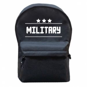 Backpack with front pocket Military with stars