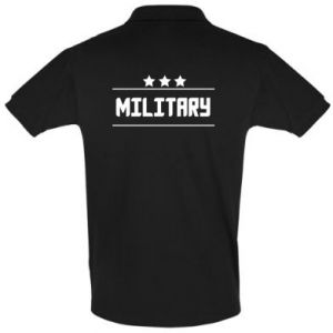 Men's Polo shirt Military with stars