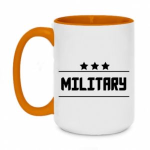 Two-toned mug 450ml Military with stars