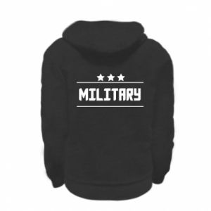 Kid's zipped hoodie % print% Military with stars