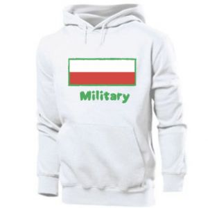 Men's hoodie Military and the flag of Poland