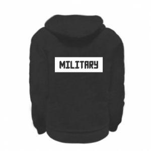 Kid's zipped hoodie % print% Military
