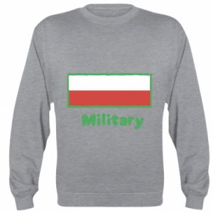 Sweatshirt Military and the flag of Poland