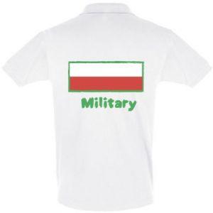 Koszulka Polo Military i flaga Polski
