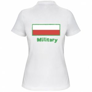 Women's Polo shirt Military and the flag of Poland