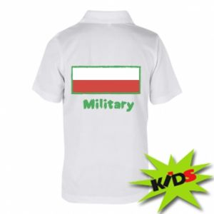 Children's Polo shirts Military and the flag of Poland