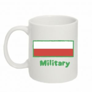Kubek 330ml Military i flaga Polski