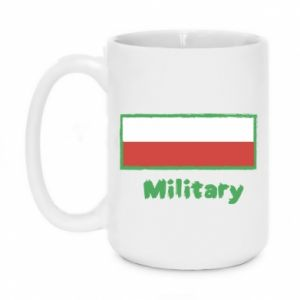 Kubek 450ml Military i flaga Polski