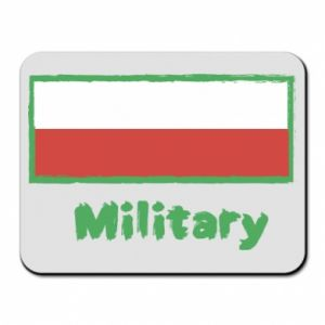 Mouse pad Military and the flag of Poland