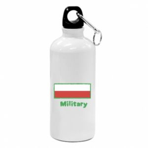 Water bottle Military and the flag of Poland