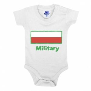 Baby bodysuit Military and the flag of Poland