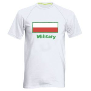 Men's sports t-shirt Military and the flag of Poland