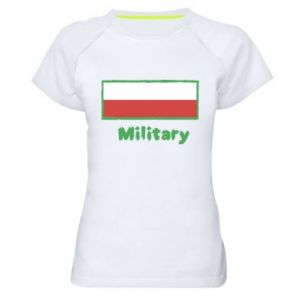 Women's sports t-shirt Military and the flag of Poland