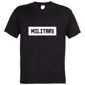 Men's V-neck t-shirt Military
