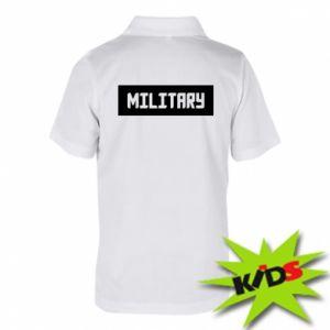 Dziecięca koszulka polo Military