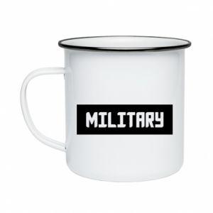 Kubek emaliowane Military