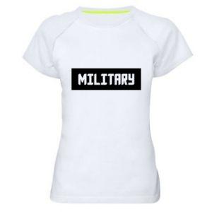Damska koszulka sportowa Military