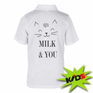 Dziecięca koszulka polo Milk and you