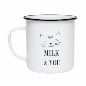 Kubek emaliowane Milk and you